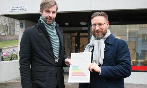 Domus Aboensis Åbo Akademin Säätiö nollaE energiatehokkuus energiaremontti Mika Soinio Nikolas Salomaa